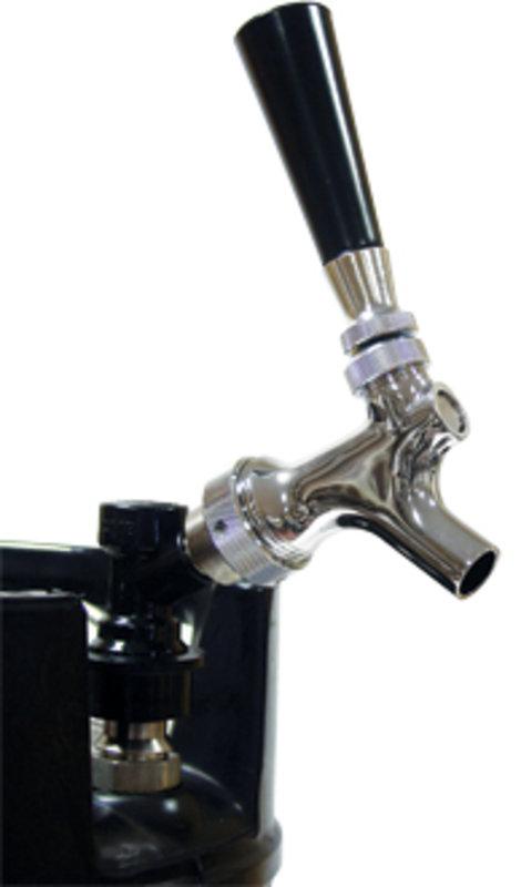 Grifo cromado de cerveza con conector ball-lock para KEG