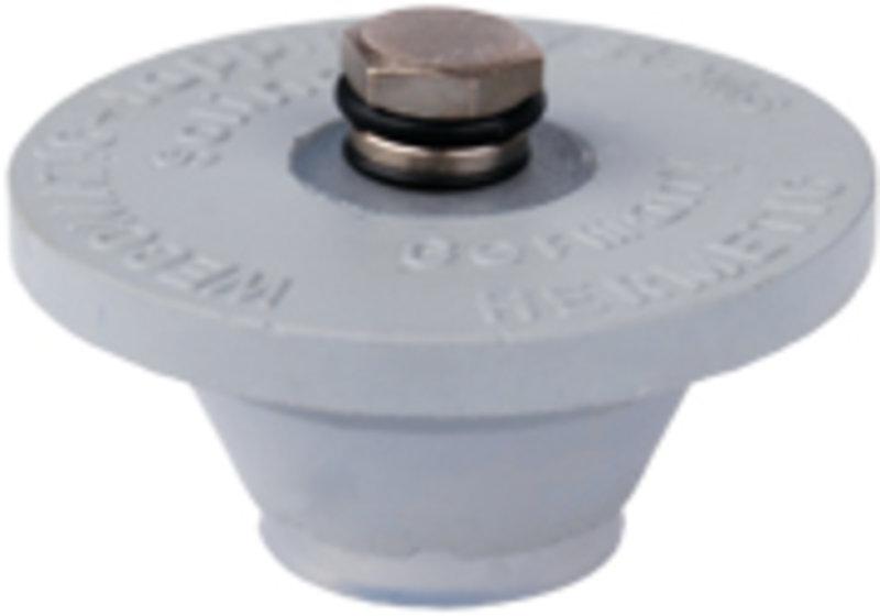 Tapón de goma con válvula de presión