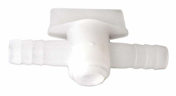 Conexión manguera en plástico con válvula 10mm