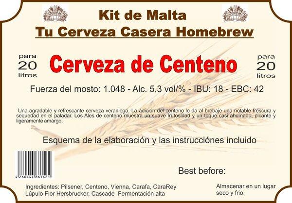 "Kit en grano ""Cerveza de Centeno"""