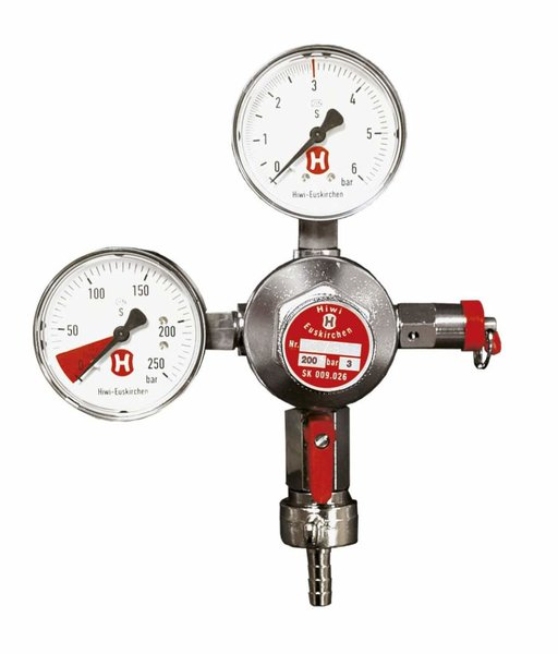 Regulador de presion CO² con 2 manómetros