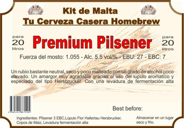 """Kit en grano """"PREMIUM PILSENER"""" F.A."""