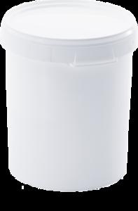 Cubo plastico PP con tapa 32ltr