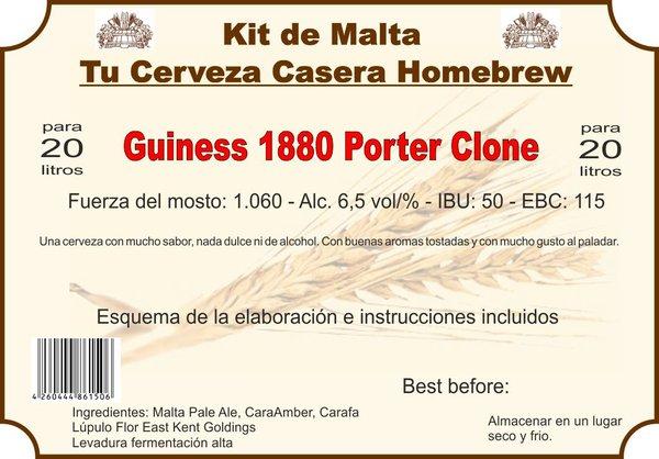 """Kit en grano """"Guiness 1880 Porter Clone"""""""
