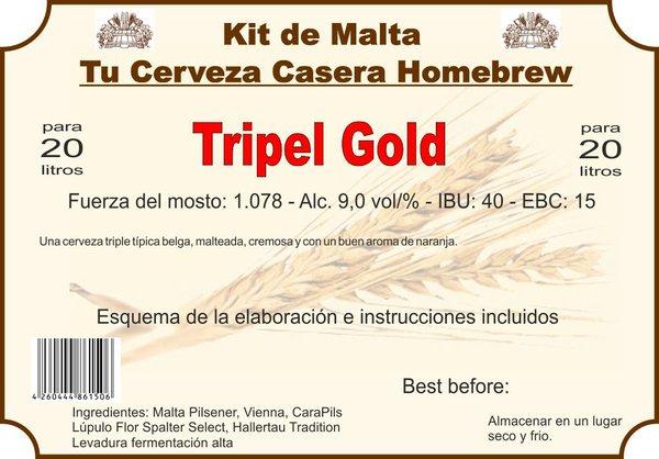 """Kit en grano """"Tripel Gold"""""""