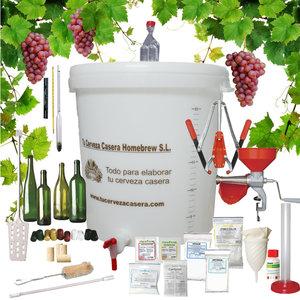Equipo Vino Pro con Uvas