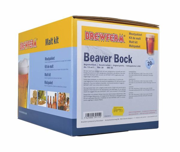 """Kit de malta en grano """"Beaver Bock"""""""