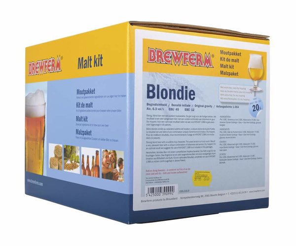 "Kit de malta en grano ""Blondie"""