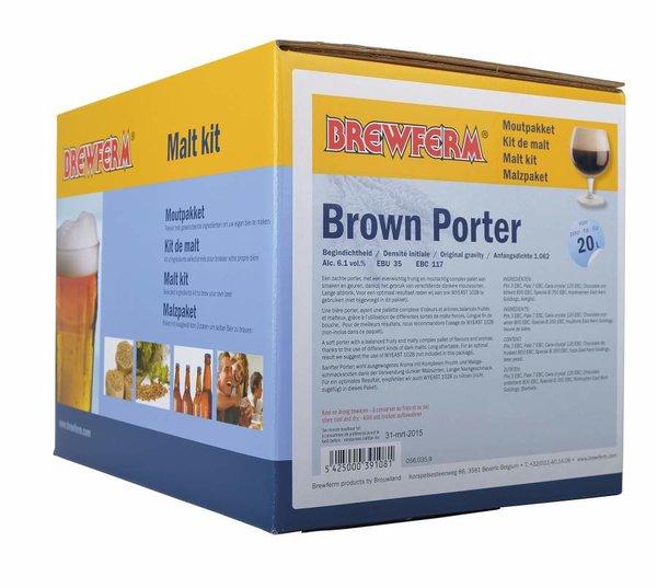 """Kit de malta en grano """"Brown Porter"""""""
