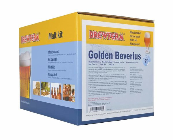 "Kit de malta en grano ""Golden Beverius"""