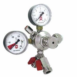 Regulador de presion CO² con 2 manómetros y 2 salidas
