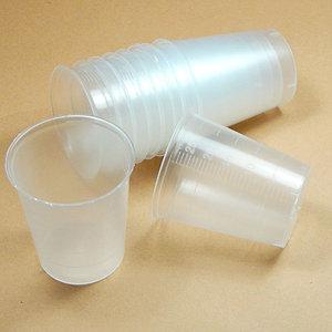 Vaso pequeño de plástico graduado 5-25ml - set de 10uds