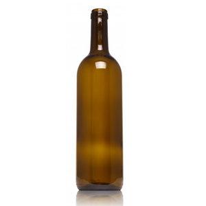 7X botellas Vino Bordeuax 75cl Color Musgo