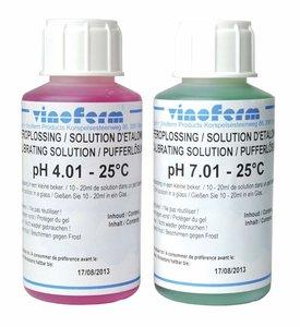 Juego líquido de calibrar pH - 4.01 + 7.01 - 100ml