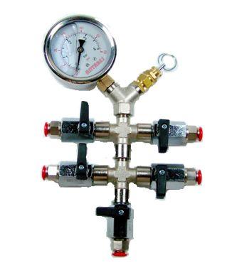 Válvula de regulación de presión ajustable 5 entradas