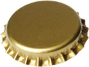 Chapas Ø 29mm dorado <p>100 uds