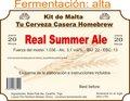 "Kit en grano ""Real Summer Ale"""